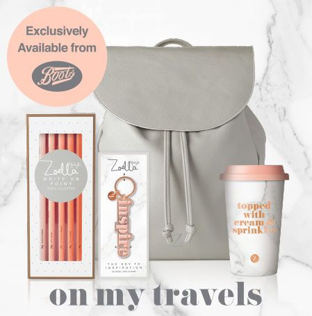 Zoella Lifestyle on my travels bag