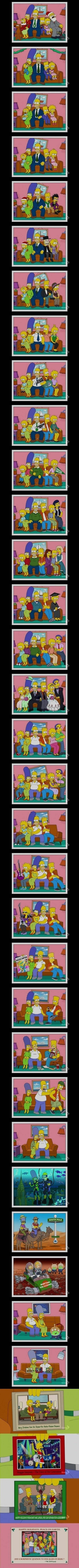 """The Simpsons Grow Up (...) in the form of 35 family greeting cards."""