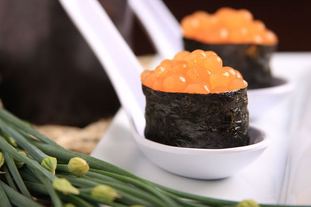 Vegan Sushi: Ginger Kombucha Caviar by Jeff and Erin's pics, via Flickr...ok...this is by far the RADDEST food thing i've seen in forever!!!  I am totally going to try this...although, I have to admit that delving into the world of molecular gastronomy is a little (ok A LOT) intimidating!!  but, if i can make this??  totally worth it!!
