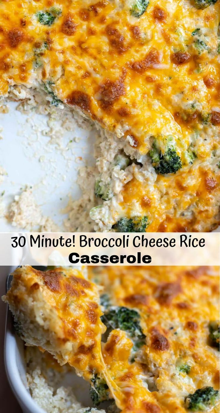 Broccoli Cheese Rice Casserole Is A Super Quick And Easy -2741