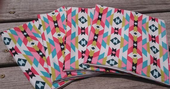 Aztec Cloth Napkins by PioneerCrossing on Etsy