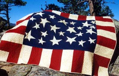 Sweet Land of Liberty Stars and stripes quilt Red White and Blue