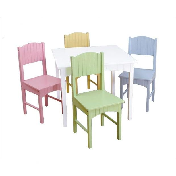 KidKraft Nantucket Pastel Kidsu0027 Table And Chair Set