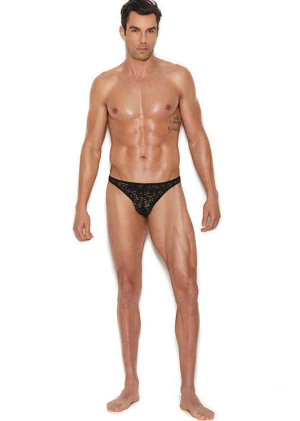 87dc28e0ac2 Sexy black lace thong underwear for men, lingerie must have for any guy