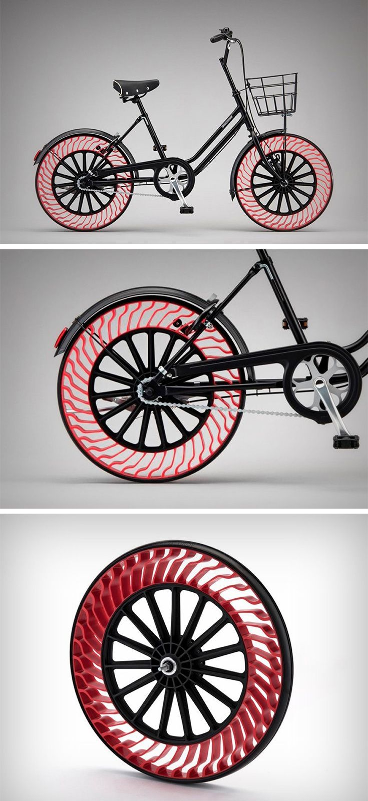 First driver-less vehicles, and now airless tires. Innovation definitely gets rid of a lot of things! Unlike most air-less tires that use a solid rubber composite tube, these tires actually do away with the tube itself, relying on a clever mix of design and physics to give you the airless tire! Bridgestone (the force behind these tires) has been experimenting with this concept since 2011, only recently demonstrating how effectively they could be used in cars.