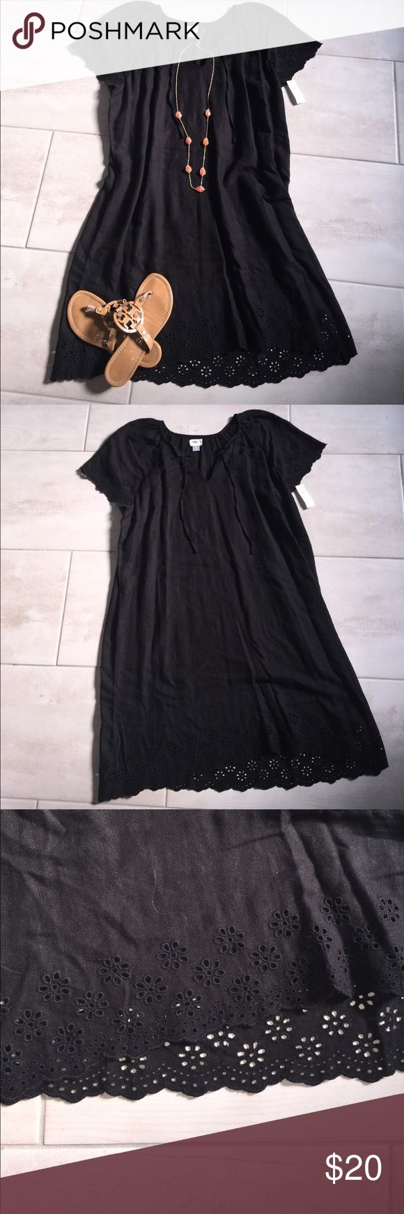 Old Navy Maternity Dress Black Old Navy Maternity Dress with lace trim on sleeves and bottom. NWT. Old Navy Dresses Mini