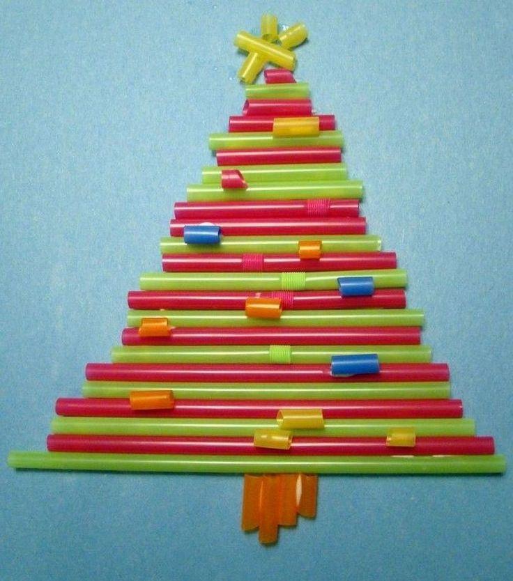 отличить новогодняя открытка из трубочек мимо