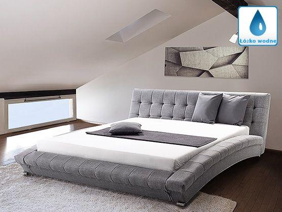 Łóżko wodne 180x200 cm – dodatki - LILLE szary