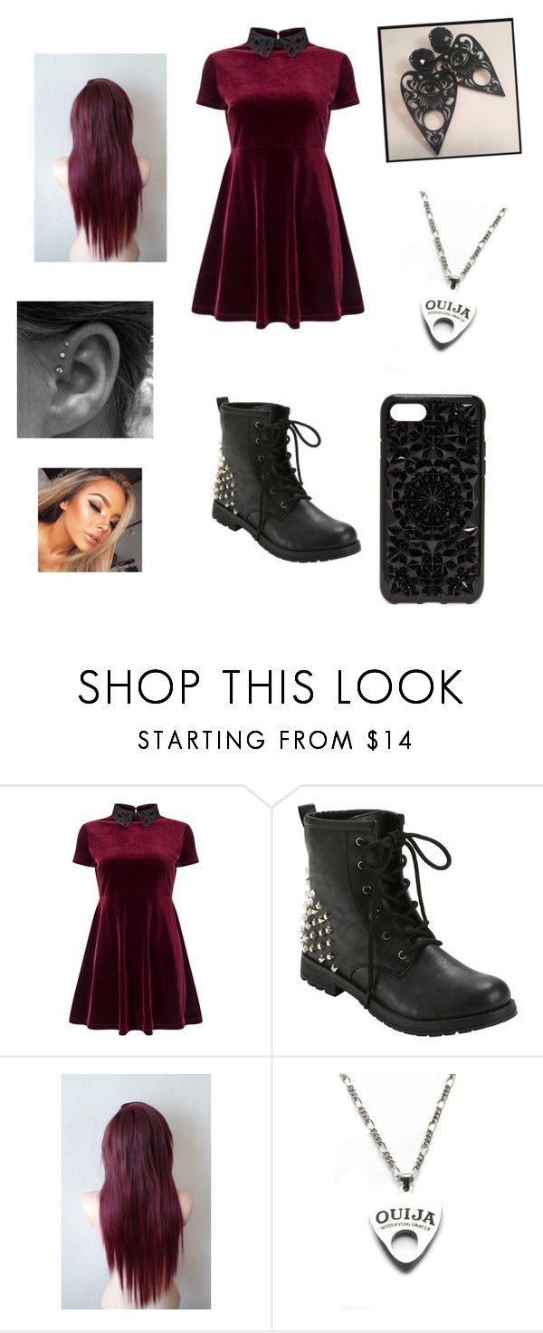 """Untitled #60"" by awkwardinternetobsessedteen ❤ liked on Polyvore featuring Miss Selfridge, Moonchild and Felony Case"