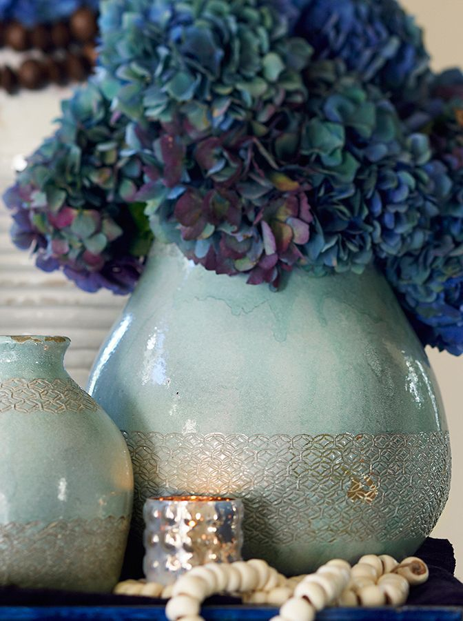Celine Stamped Vases, pottery barn is going blue!