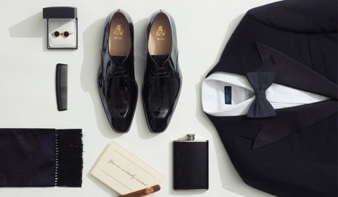 Essentials for a black and white formal event.    Pre-order AFFORDABLE premium Hucklebury shirts today on Kickstarter. Made in USA, Superior Q...