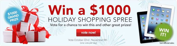 Win a 1000dollar Holiday Shopping Spree! Vote for the Best Gifts of the Year daily through Nov 9th! #2012Giftees htttp://giftees.gifts.com/vote