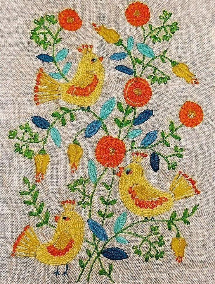 Best vintage embroidery kits images on pinterest
