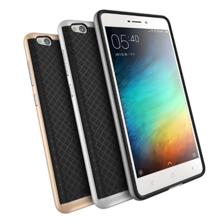 """For Xiaomi Redmi 3 Case 5.0"""" TPU Silicon Hybrid+PC Dual Layer Frame Back Cover Protective Accessory For Hongmi3 Cell Phone - US $3.15"""