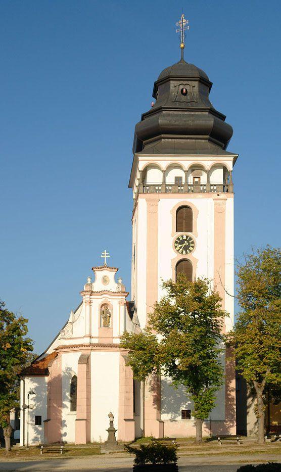 The church of St.Mathew (Matěj) in Bechyně (South Bohemia), Czechia