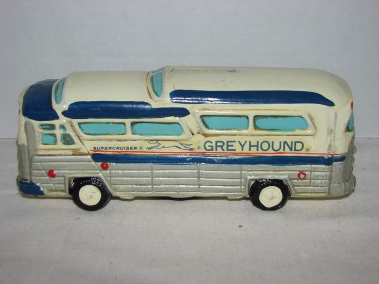 Vintage Paper Mache Greyhound Bus Piggy Bank Supercruiser