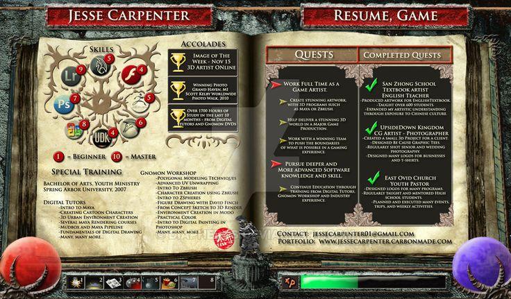 Game Art Resume Pg 2 by diapheros