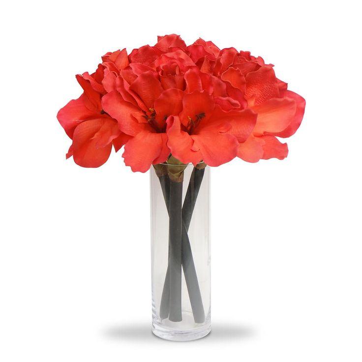 Tecido vidro arranjo de flores artificiais amarilis no for Amarilis decoration