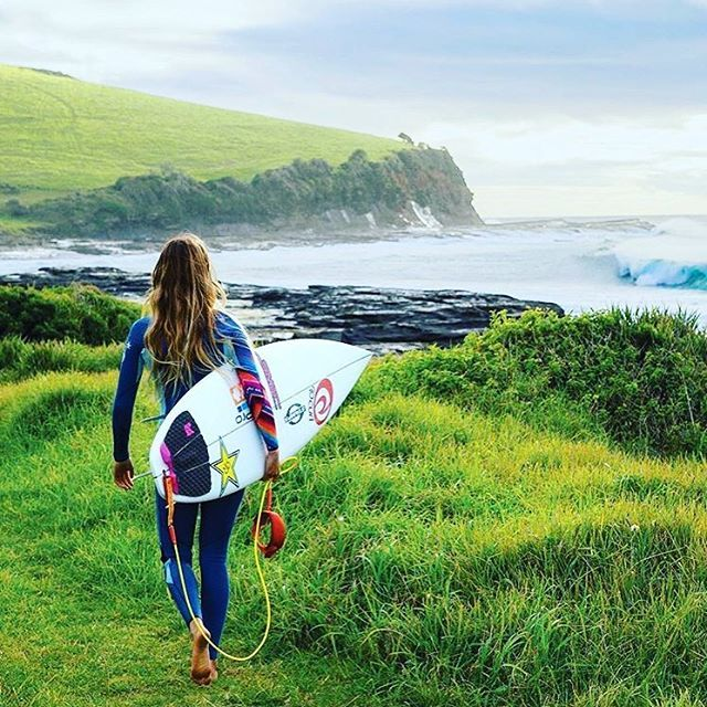 Alana Blanchard is suited up and on The Search! #RipCurl