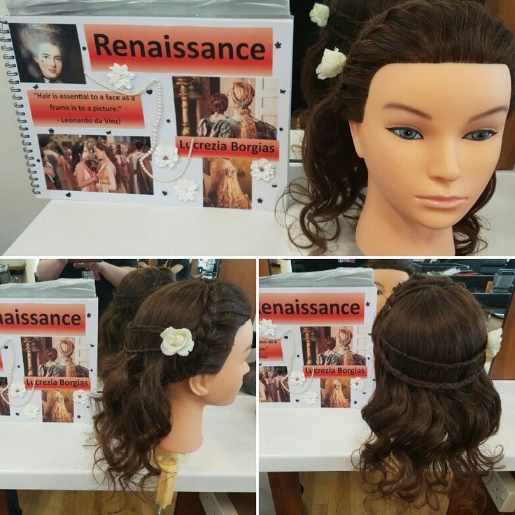 My renaissance hair inspired by Lucrezia Borgia from the Borgias