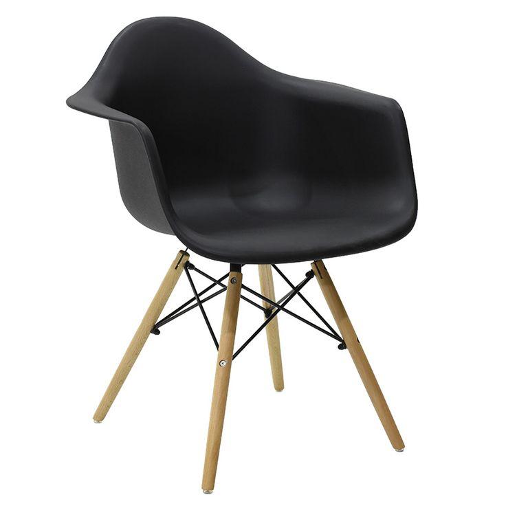 Propylene armchair Julita black