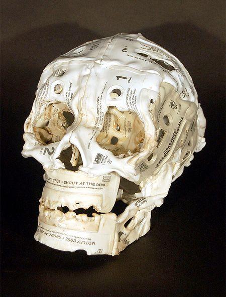 Cassette Tape Skull