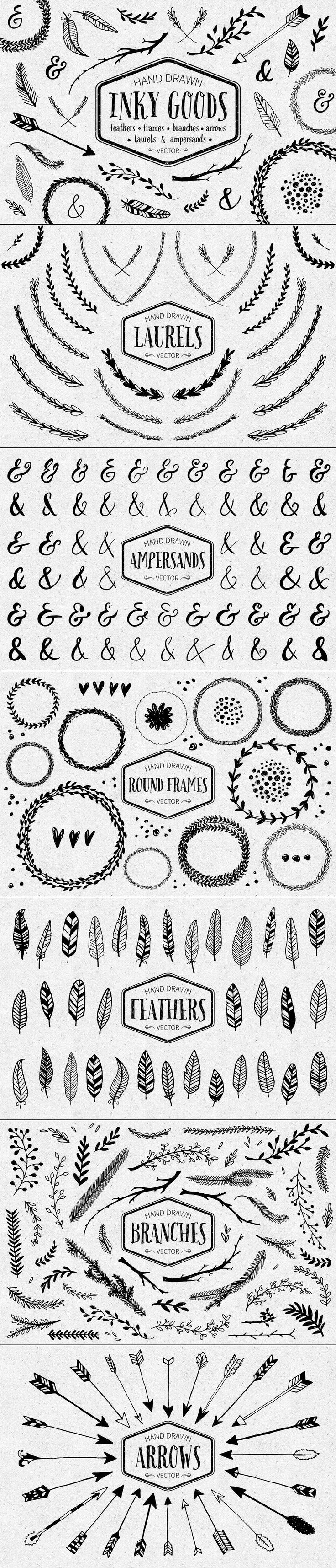 Inky Goods Vector Graphics by Pixelwise Co. on Creative Market