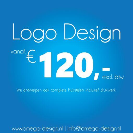 Laat uw logo voordelig ontwerpen door Omega Design grafisch ontwerp en drukwerk! Info@omega-design.nl of neem een kijkje op onze website www.omega-design.nl