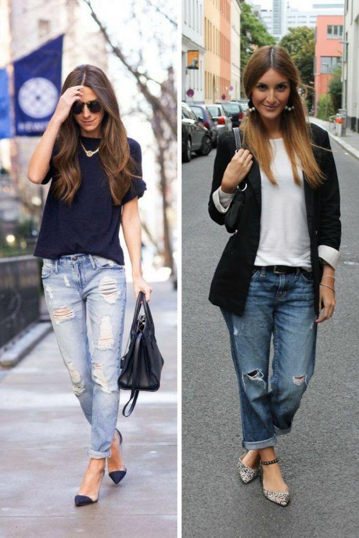 Boyfriend Jeans Fashion Looks 2019