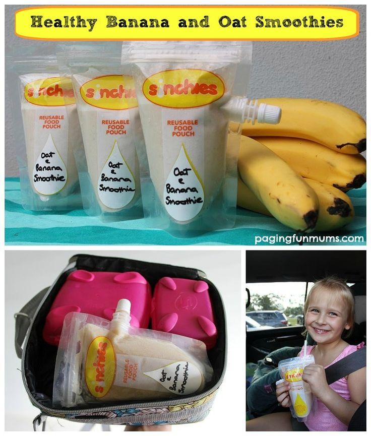 Healthy Banana & Oat Smoothies