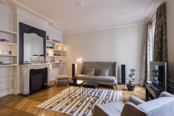 95m² - Paris 16e aménagé et décoré par la décoratrice d'intérieur Vanessa Faivre