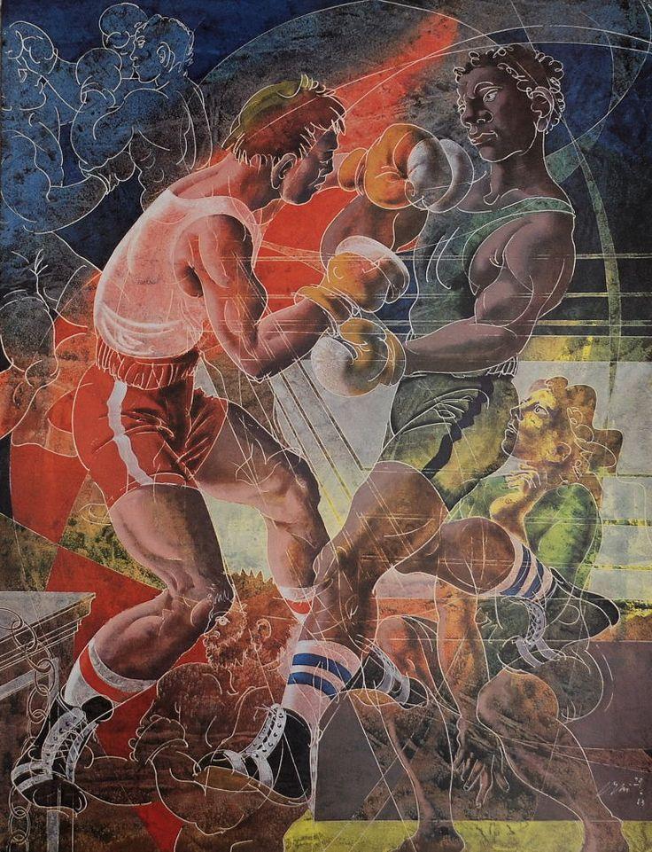 Boxing - Hans Erni / art for the Olympics