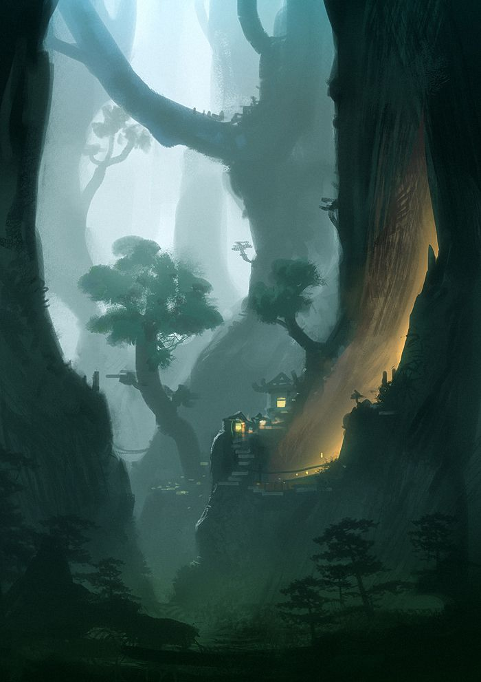 Giant Trees by Hideyoshi ★ Find more at http://www.pinterest.com/competing/