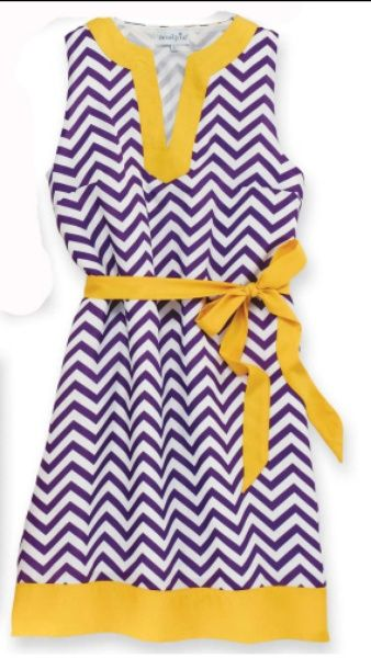 Purple & Gold Game Day Dress