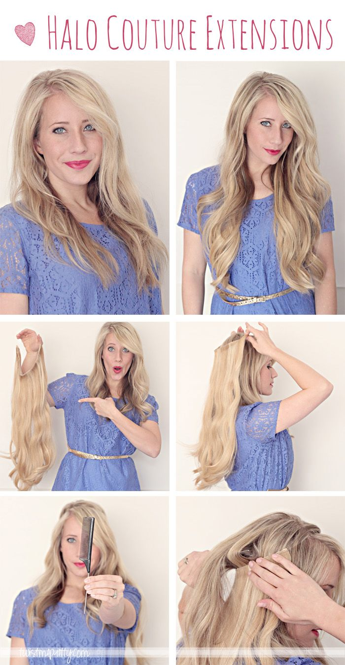 Thin hair?  You need these Halo Couture Extensions, just in case you never know when you might need them.