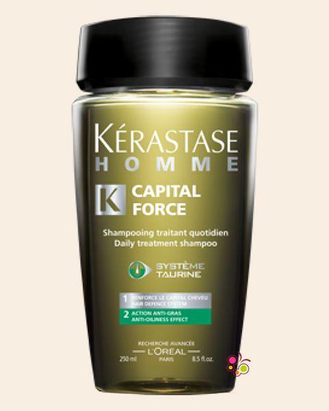 KERASTASE Homme Bain Capital Force Anti Oiliness Erkekler İçin Yağlanmaya Karşı Etkili Günlük Bakım Şampuanı 250 ml