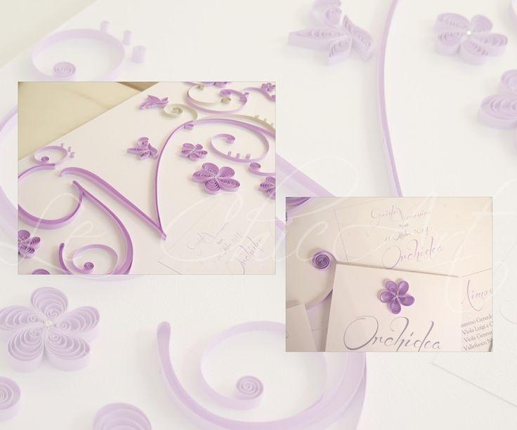Tableau de mariage linea très chic fiori e farfalle in lilla e grigio perla