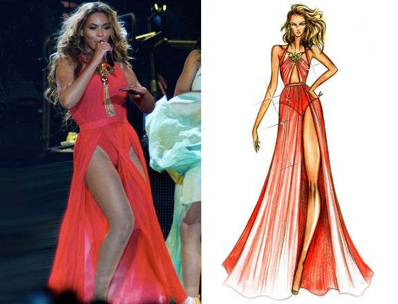 Beyonce Mrs. Carter Show | Beyonce Reveals More Mrs. Carter Show Tour Wardrobe Sketches | MTV ...