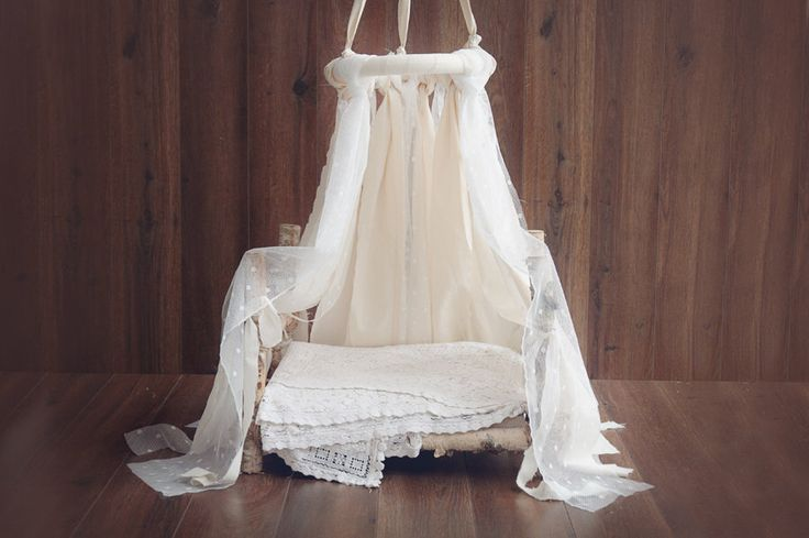 Newborn Canopy Photo Prop, hanging fabric canopy prop, lace and cotton fabric canopy photography prop, ship wordwide by Mamamada on Etsy https://www.etsy.com/listing/176567909/newborn-canopy-photo-prop-hanging-fabric