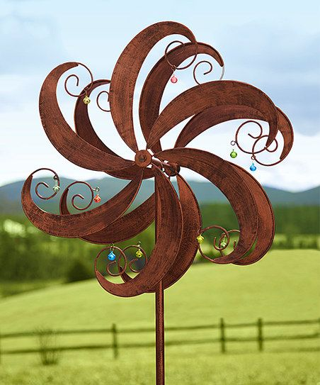 Plow & Hearth Copper Jingle Scroll Wind Spinner Kinetic Garden Stake | zulily