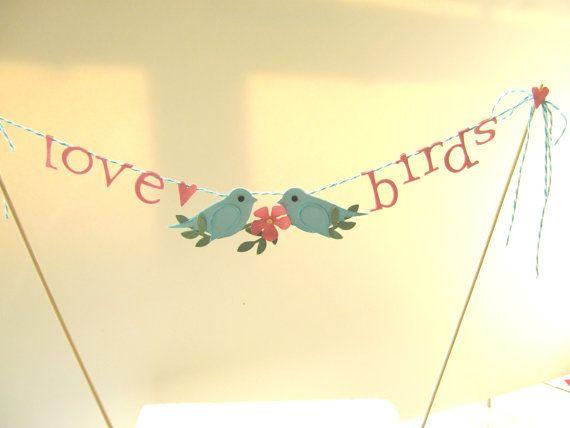 Love Birds Wedding Cake Topper Love Birds Cake by CharonelDesigns, $29.95