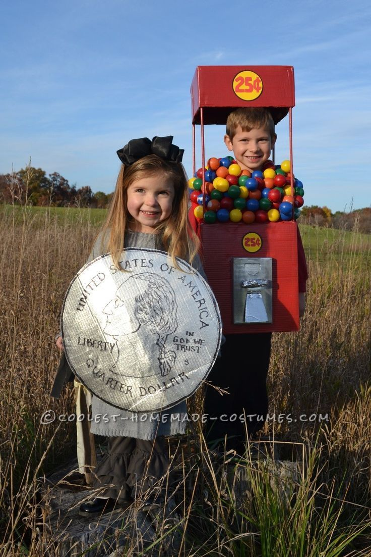 Cool Duo Costume: A Gumball Machine and a Quarter... Coolest Halloween Costume Contest