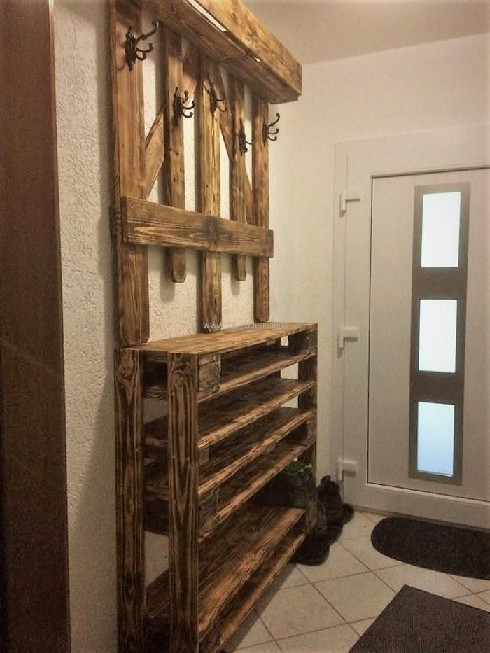 Wardrobe plays an important role in making a room look attractive, so it should be paid attention and here is a great idea to create it at home with the design in mind. Recycled wood pallets  wardrobe idea allows hanging the clothes and placing the other items that are required in a room.