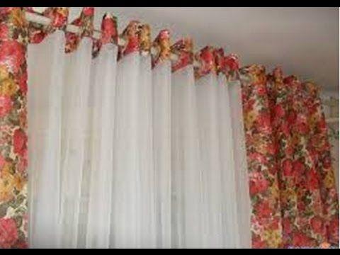 Делаем окна красивыми. Изготовление штор без пошива - YouTube