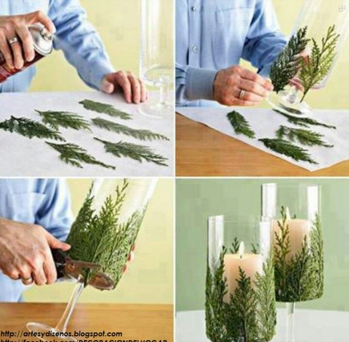 Nice & easy Christmas decoration and I bet it would look cool with some color white glitter to give it a snowy look!