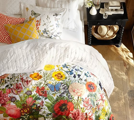 Flora Garden Duvet Cover And Shams Floral Duvet Cover