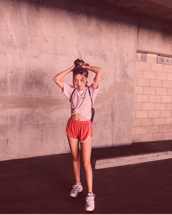 Love this outfit. 90s soft  cute shorts running shorts @iamkareno