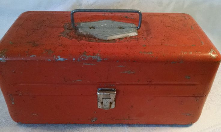 Vintage Old Pal Tackle Box, Old Pal Tackle Box, Old Pal, Tackle Box, Fishing Box, Fishing, Fishing Accessories, Made in USA, fishing lures by Vintagepetalpushers on Etsy