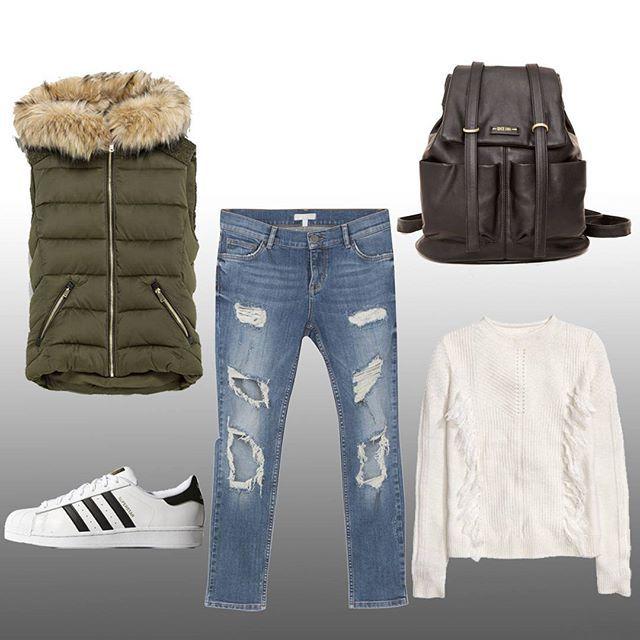 Pazar günü rahatlığı için ilk stilimiz..✌ First sunday comfy look..✌ Adidas originals Ayakkabı, @adidasoriginals Shoes *262tl Twist Kot, @twistturkiye Jean *199tl H&M kazak, @hm Knit *79,99tl Zara Yelek, @zara Vest *149,95tl Pull And Bear Çanta, @pullandbear Bag *99,95tl  #fashion #pashion #style #moda #tarz #stil #istanbul #jean #outfit #shoes #bag #tshirt