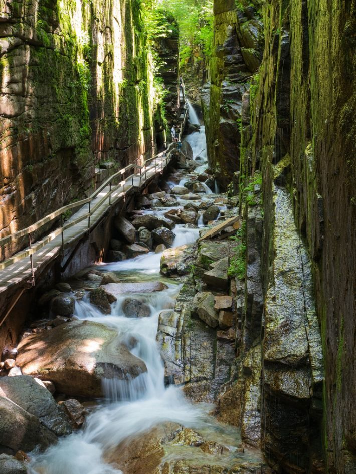 Flume Gorge, New Hampshire / USA (by dlee723).